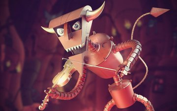 скрипка, робот, футурама, дьявол, скрипач