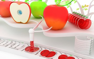 завод, making apples, яблок
