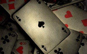 покер, карты, серый