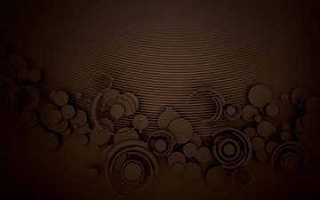 pattern, circles, chocolate