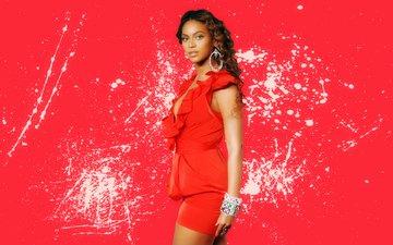 красный, певица, красное платье, бейонсе, бейонс
