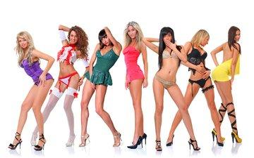 девушки, ноги, каблуки, модели, нижнее белье, красотки