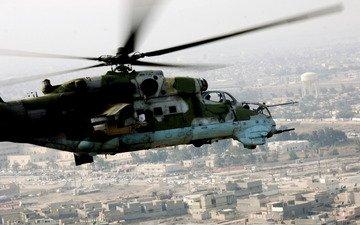 полет, война, ссср, россия, вертолет, ми-24, техника