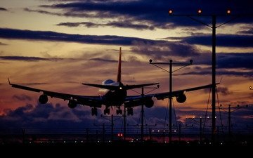 the plane, aviation, the rise, airport