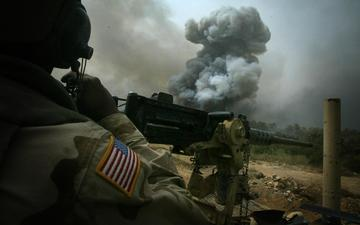 usa, the explosion, iraq, machine gun, shootout, the convoy