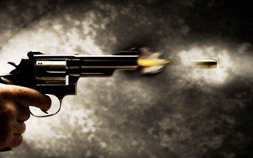 gun, shot, bullet