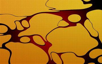 желтый, абстракция, обои, разводы, лужа