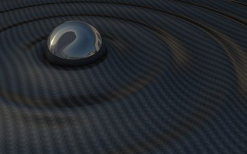 космос, волны, сфера, шар, темный фон, космическая, космеи