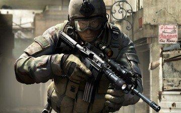 оружие, война, солдат, socom 4 us navy seals