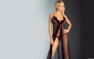 blonde, negligee