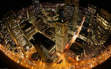 ночь, огни, высота, нью-йорк, нью - йорк