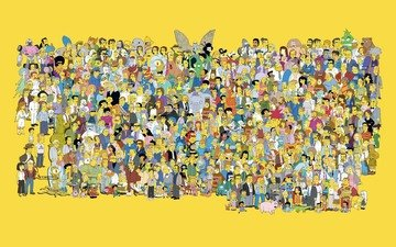 the simpsons, simpsons, characters, all
