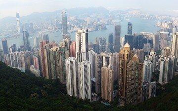 вид, город, высота, гон-конг