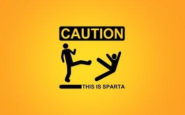 надпись, предупреждение, спарта