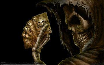 фентези, карты, игра, смерть