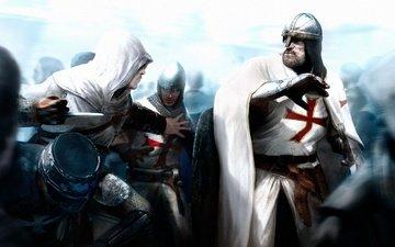 assassins creed, шлем, схватка, кольчуга