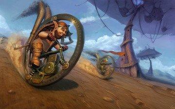 колеса, гонка, большие, mushroom madness