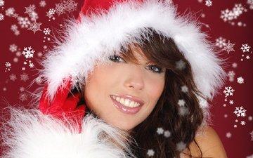 глаза, снег, девушка, портрет, взгляд, красота, девушки, модель, волосы, лицо, izabela magier