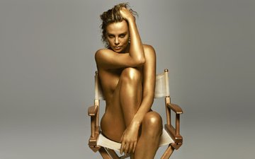look, chair, charlize theron