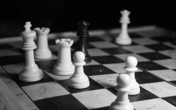 шахматы, чёрно-белое, игра, черное, белое