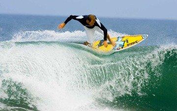 вода, волны, море, лето, океан, спорт, мальчик, мужик, серфинг, летнее, океана
