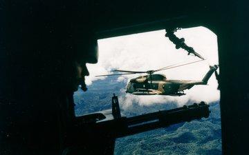 weapons, war, helicopter, vietnam