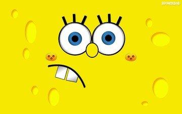 желтый, рожа, губка, боб, губка боб и патрик