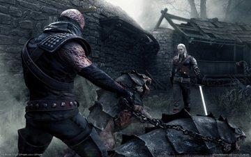 туман, меч, монстры, ведьмак