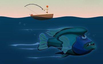 вектор, рыба