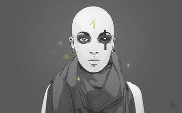 серый, будда, минимализм