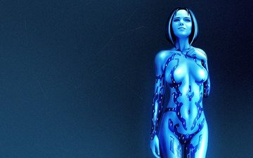 girl, halo, cortana, hologram