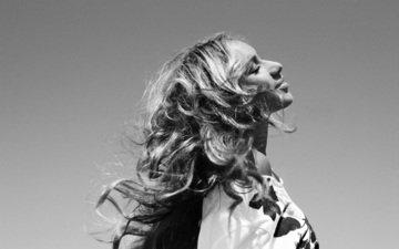 чёрно-белое, профиль, мысль, мечта, закрытые глаза, леона льюис