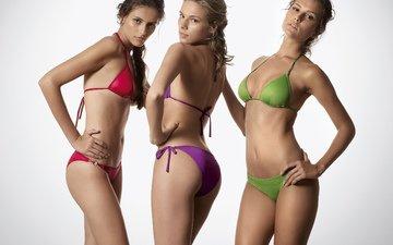 модели, бикини, benetton spring, summer 2010, купальники