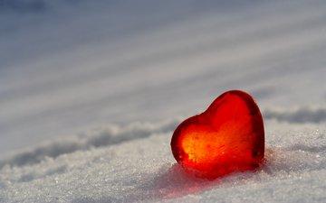 снег, лёд, сердце