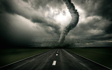 road, tornado