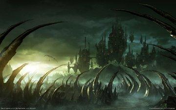 фэнтези, rise of nations rise of legends, парящие, замки