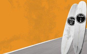волны, море, лето, минимализм, доски, спорт, серфинг, катание