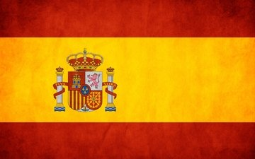 yellow, red, flag, spain