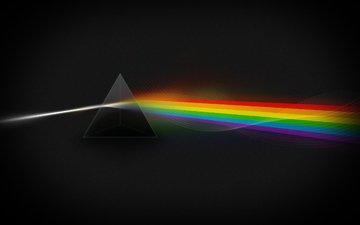 свет, цвета, радуга, призма