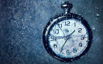 вода, макро, часы, под водой, время, пузырьки