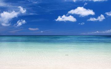облака, горизонт, океан