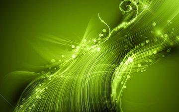 свет, абстракция, обои, зелёный