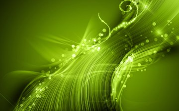 light, abstraction, wallpaper, green