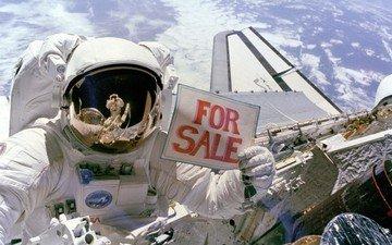 земля, космонавт, продаёт