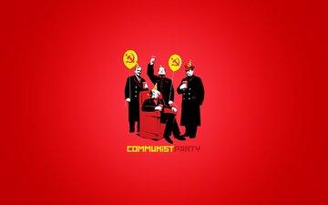 серп, молот, кресло, коммунизм, коммунисты, ленин, сталин, мао цзедун, карл маркс, communist, воздушные шарики, колпак, вечеринка, водушные шарики