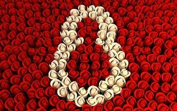 праздник, 8 марта, женский день, розы красные, розы белые