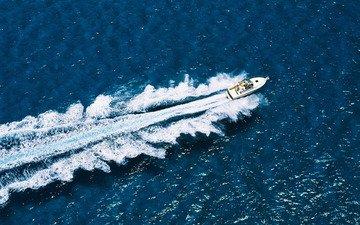 волны, море, катер