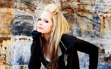 блондинка, взгляд, аврил лавин