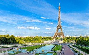 башня, париж, площадь
