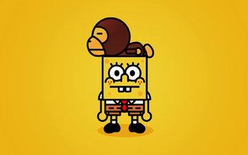 yellow, spongebob, bape